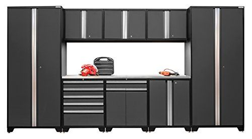 NewAge Products 52162 Pro 30 Series Stainless Steel Storage Set 9 Piece Gray