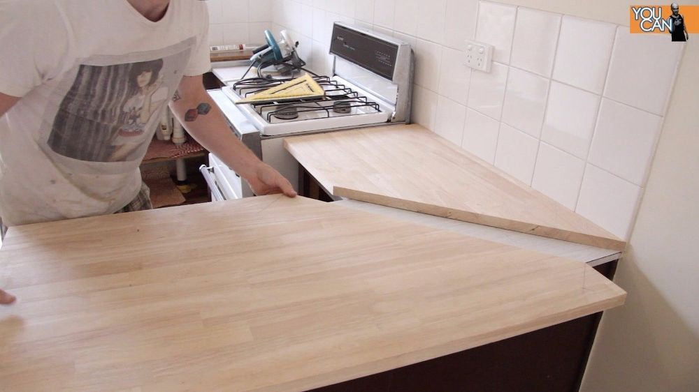 Diy Kitchen Counter Top Instillation Without Removing The Old One Diy Countertops Kitchen Countertops Diy Kitchen