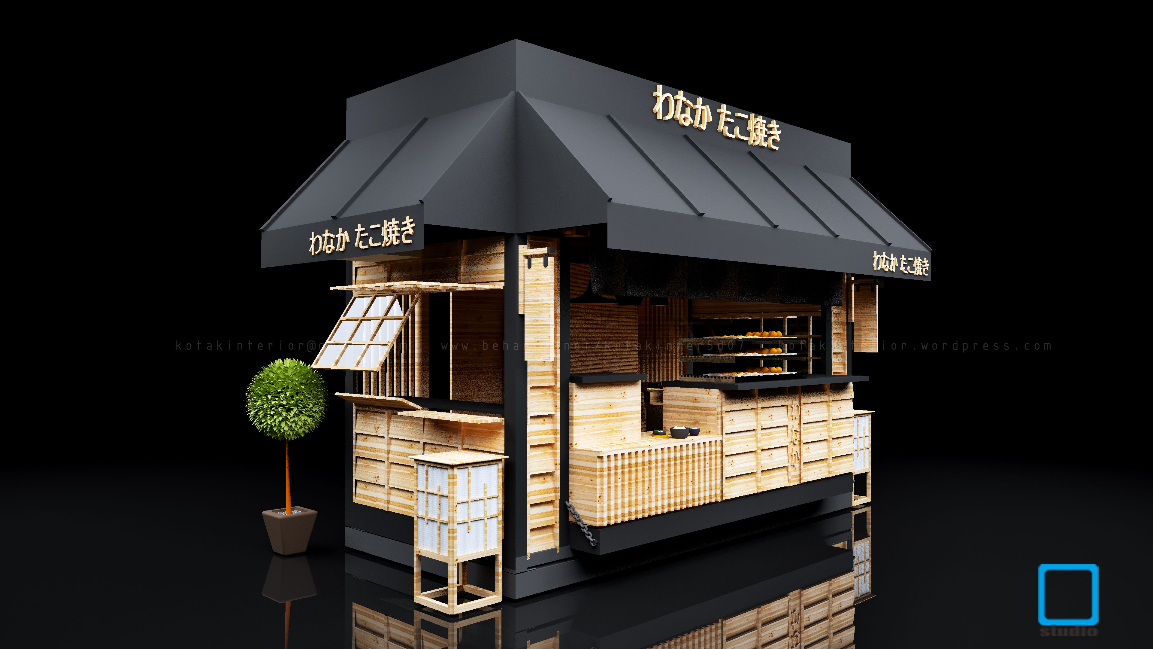 Architecture Kiosk Design Of Takoyaki Kiosk Kiosk Design Kiosk And Food Kiosk