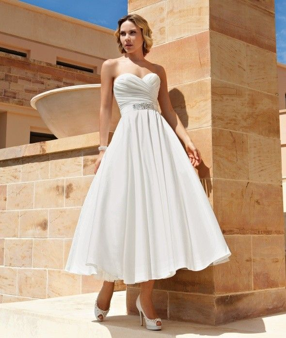 >> Click to Buy << Simple Summer Laure de Sagazan Vintage Beach Wedding Dresses Boho 2016 Sweetheart Ankle Length Bridal Gown Cheap Robe De Mariage #Affiliate