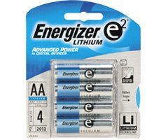 awesome 8 pcs Energizer Lithium AA 1.5V High Energy Lithium e2 Batteies