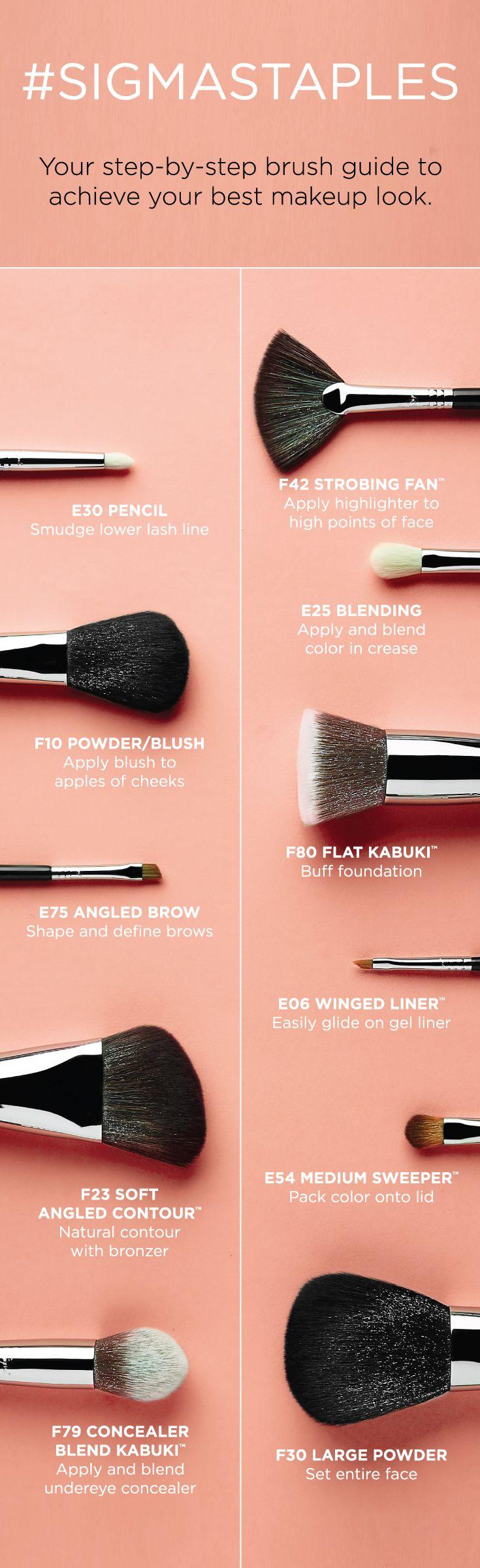 Makeup Brush Guides Sigma Beauty Best Makeup Products Makeup Brushes Guide Makeup Brushes 101