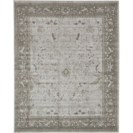 Unique Loom Vintage La Jolla Light Gray 10' 6 x 16' 5 Area Rug
