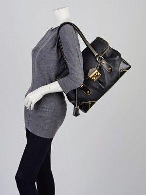 9683ba9c6e9f Louis Vuitton Black Suhali Leather L Absolu de Voyage Bag - Yoogi s Closet