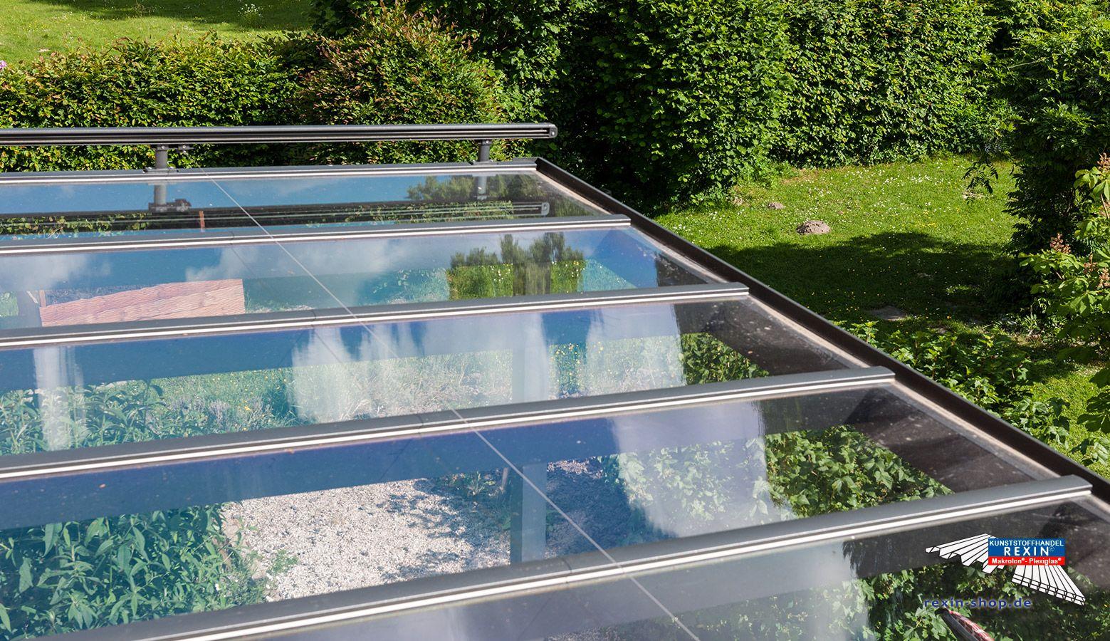 Ein Alu Terrassendach Der Marke Rexopremium Titan 5m X 2 9m In Anthrazit Mit Makrolon Uv Massivplatten Uberdachungen Uberdachung Terrasse Terrassenuberdachung