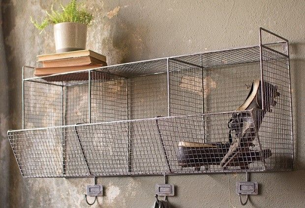 HUGE Wire Shelf With Hooks   From Antiquefarmhouse.com   Http://www