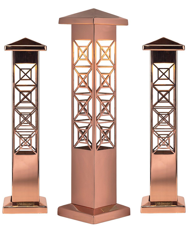 Nightscaping S Custom Copper Light Bollard Copper Outdoor Lighting Copper Lighting Outdoor Lighting Design