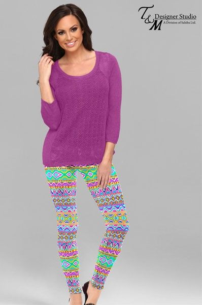 Classy Multicolored Lycra Printed Leggings