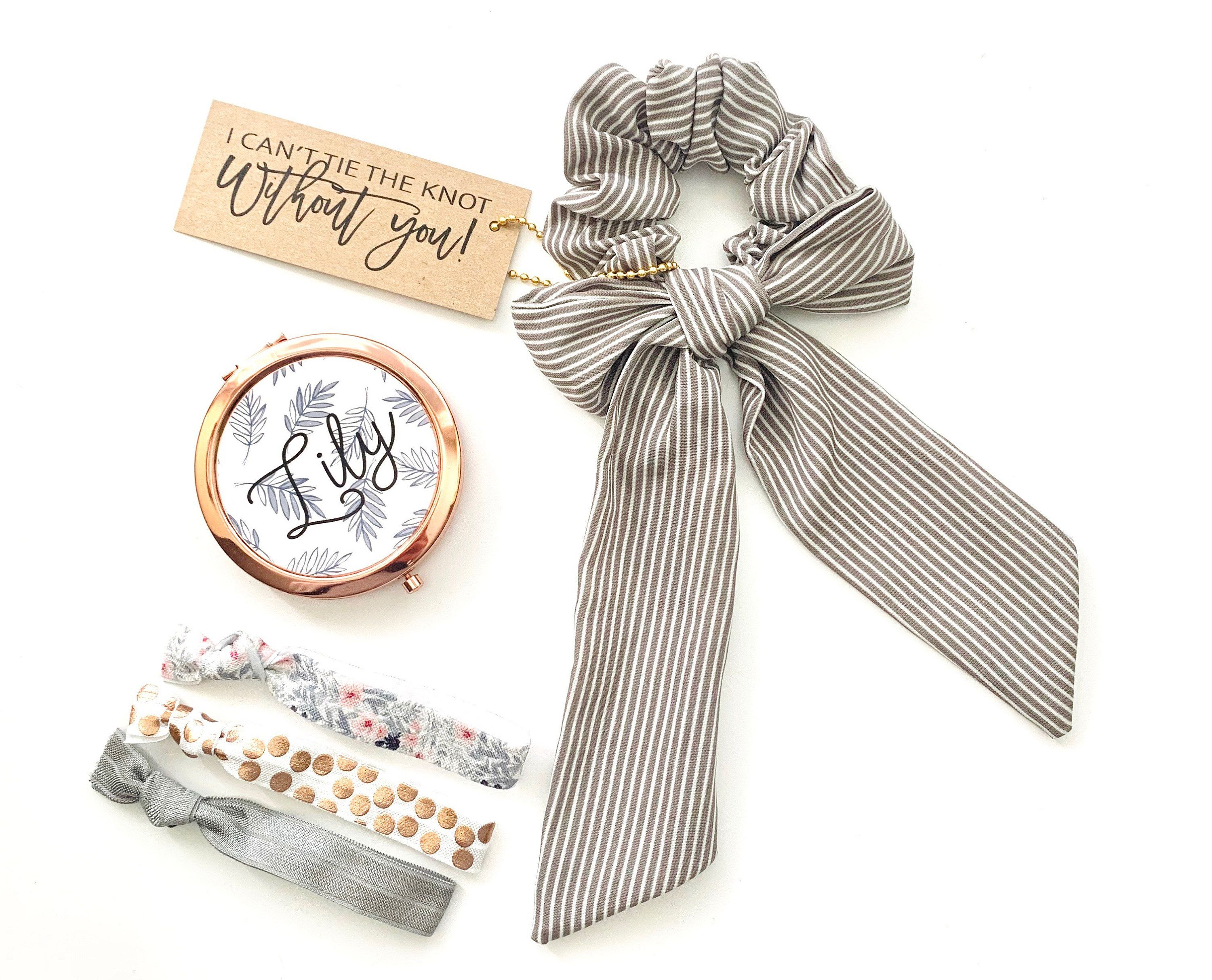 I Can't Tie the Knot Bridesmaid Proposal Scrunchie hair