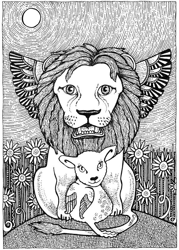 Coloring Picture Of Lions Di 2020