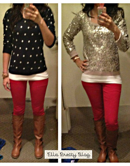 Ella Pretty: Holiday Party Outfits, Red Skinnies & More Bubble ...