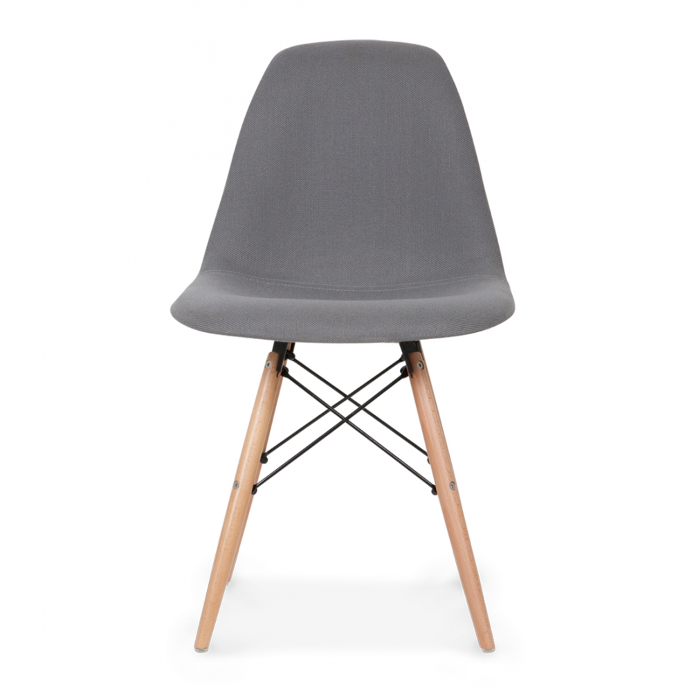 Eames style grey dsw chair upholstered dining chairs for Cheap eames style chair