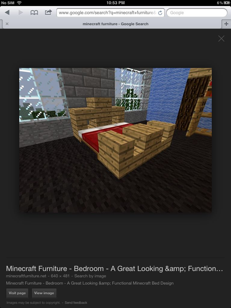Minecraft King Size Bed Minecraft Furniture Minecraft Blueprints Minecraft Decorations