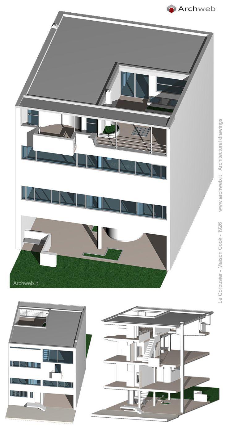 Autocad 3d House Design Software: Maison Cook, Boulogne-sur-Seine, France (1926)