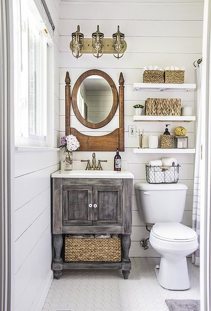 Small Master Bathroom Makeover on a Budget | Master bathrooms ...