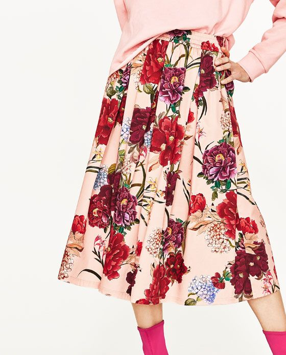 694f1ae4 Image 3 of FLORAL PRINT MIDI SKIRT from Zara | Summer Style | Floral ...