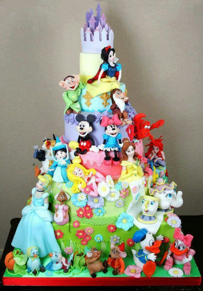 Disney cake This could be cute for a baby shower cake Amy Lyons