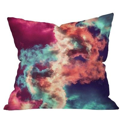 DENY Designs Yin Yang Painted Clouds Throw Pillow | Deny ...