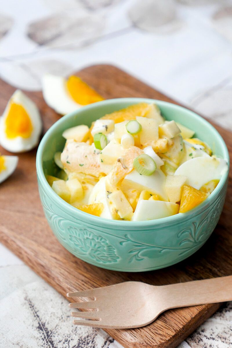 Fruchtiger Eiersalat mit Orangen und Äpfeln - Ein leckeres Brunchrezept
