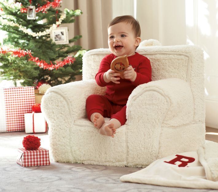 Captivating Baby Christmas Picture   Cream Sherpa My First Anywhere Chair