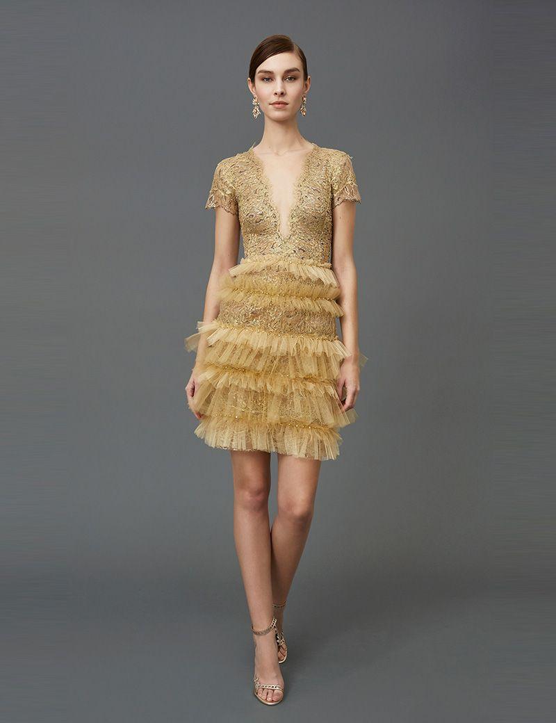 8d2434c167 Sexy Mini Short Deep V-neck Cocktail Dresses 2017 Short Sleeves Lace ...