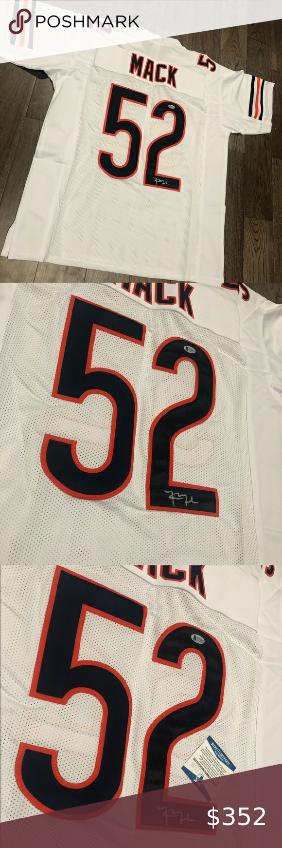 Khalil Mack Signed Jersey In 2020 Clothes Design Mack Retail Logos
