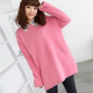 Drop-Shoulder Fleece Pullover from #YesStyle <3 59 Seconds YesStyle.com