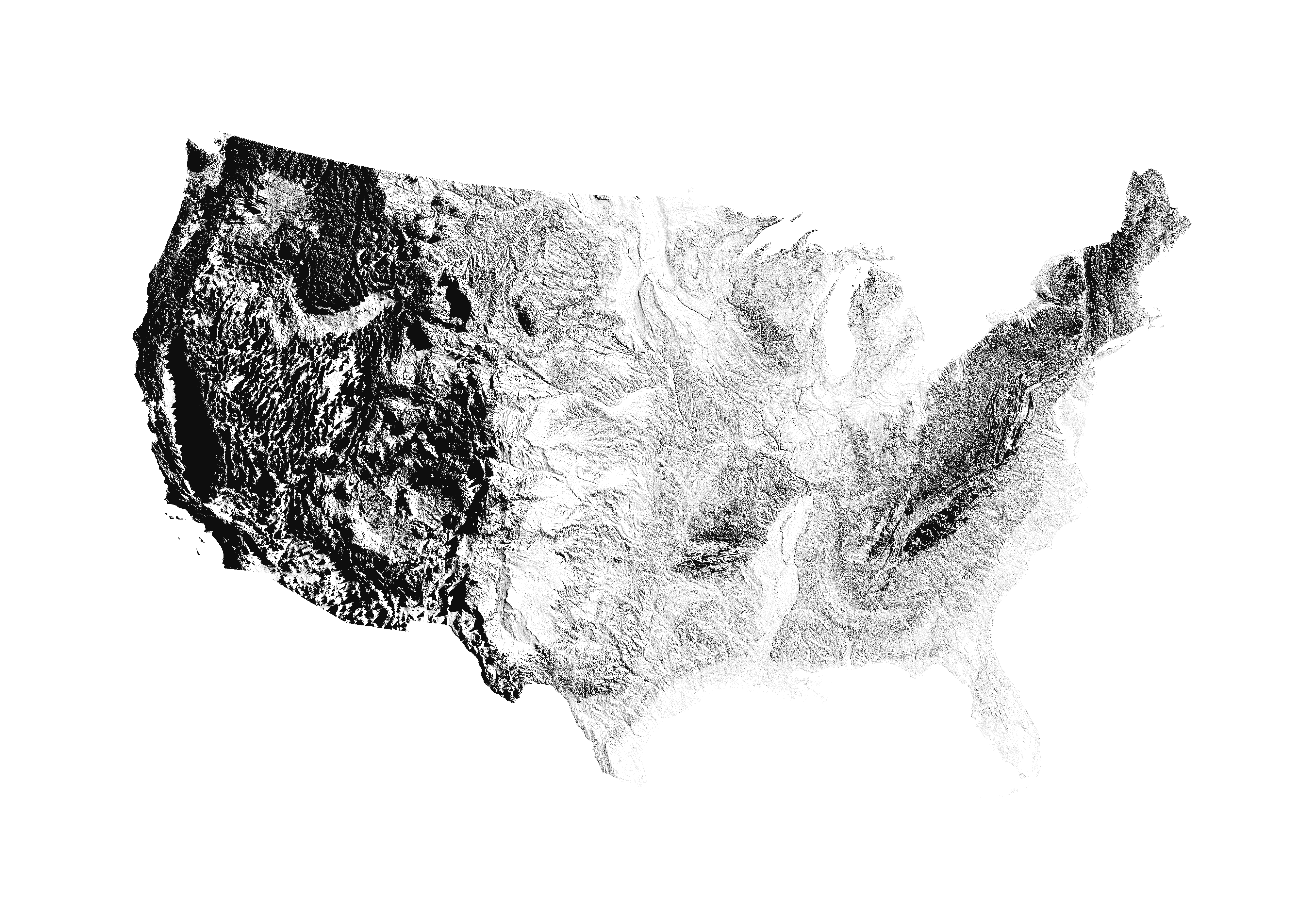 Map Of Us Drought States%0A United states map    The US mapped by sunrise shadows