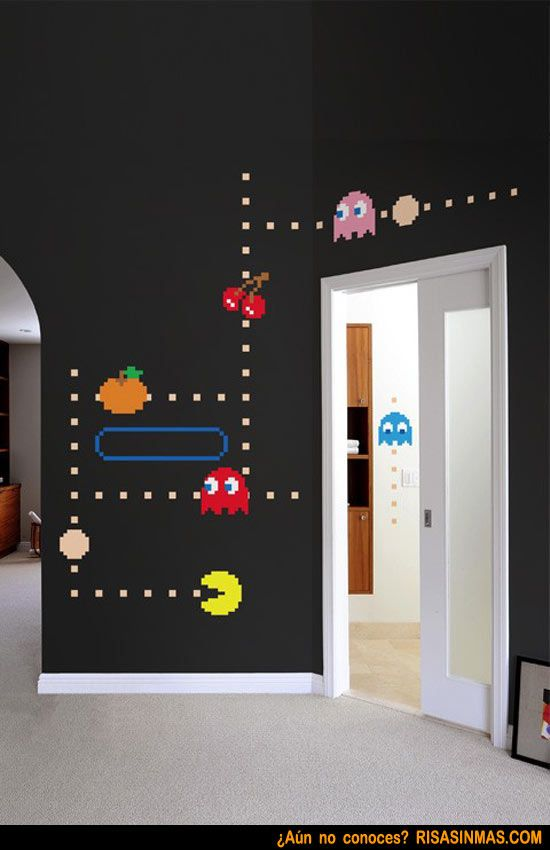 Paredes decoradas por un adicto al Pac-man for the home - paredes decoradas