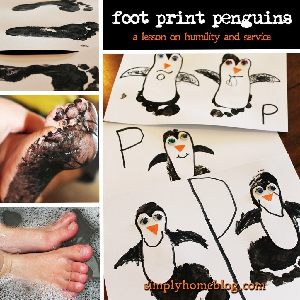 Foot Print Penguins A Lesson On Humility Grace And