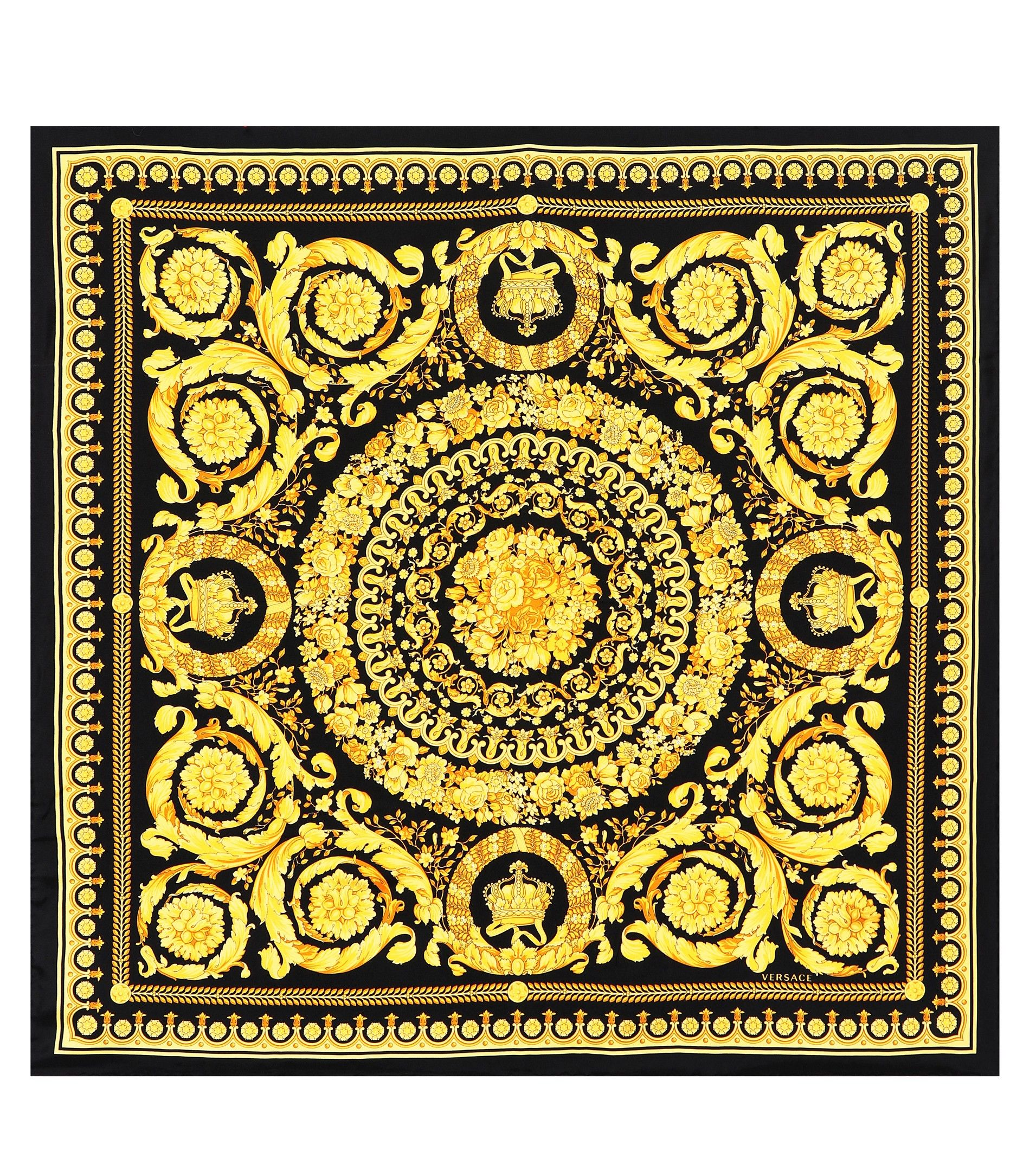 e8815d60b8 Baroque SS92 printed silk scarf | All about Graphic Design | Versace ...