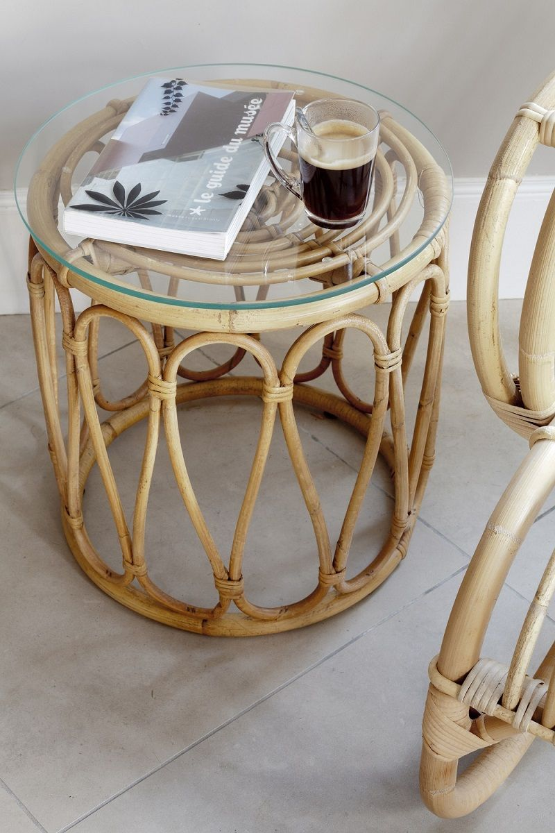 Table De Salon En Rotin Table Basse En Rotin Tambour En 2018 Salon Pinterest Home