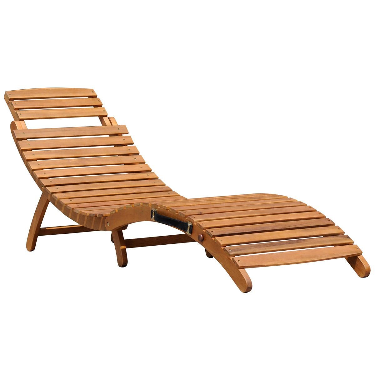 Bentley Garden Sun Loungers Wooden Curved