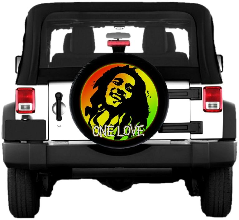 Bob Marley One Love Spare Tire Cover Spare Tire Covers Jeep