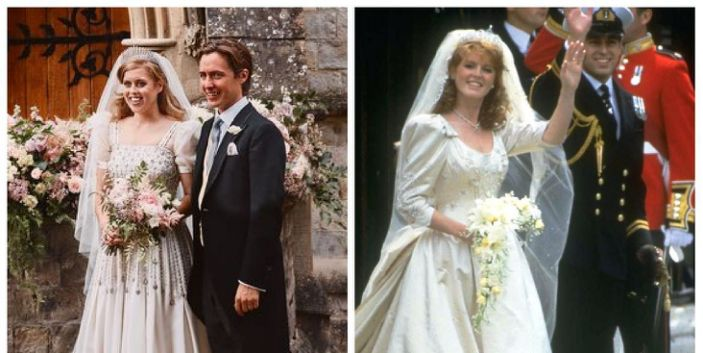 Princess Beatrice's wedding dress perfectly mirrored her