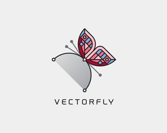 Vectorfly Logo design - Unique. Simple. Clean. You decide if suit your needs. Price $450.00
