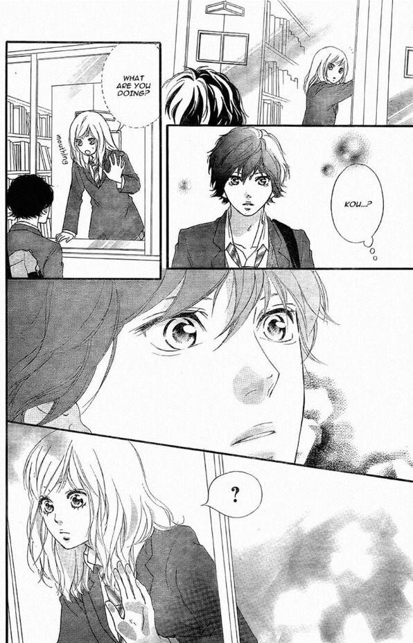 Ao haru ride kou and futaba library Anime Ao haru ride