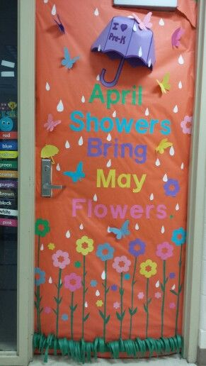 Classroom Decorations For April ~ Spring classroom door decorations april showers bring may