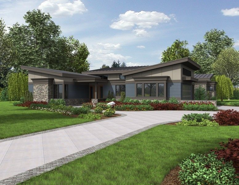4 home plans with the midcentury modern look the caprica 1