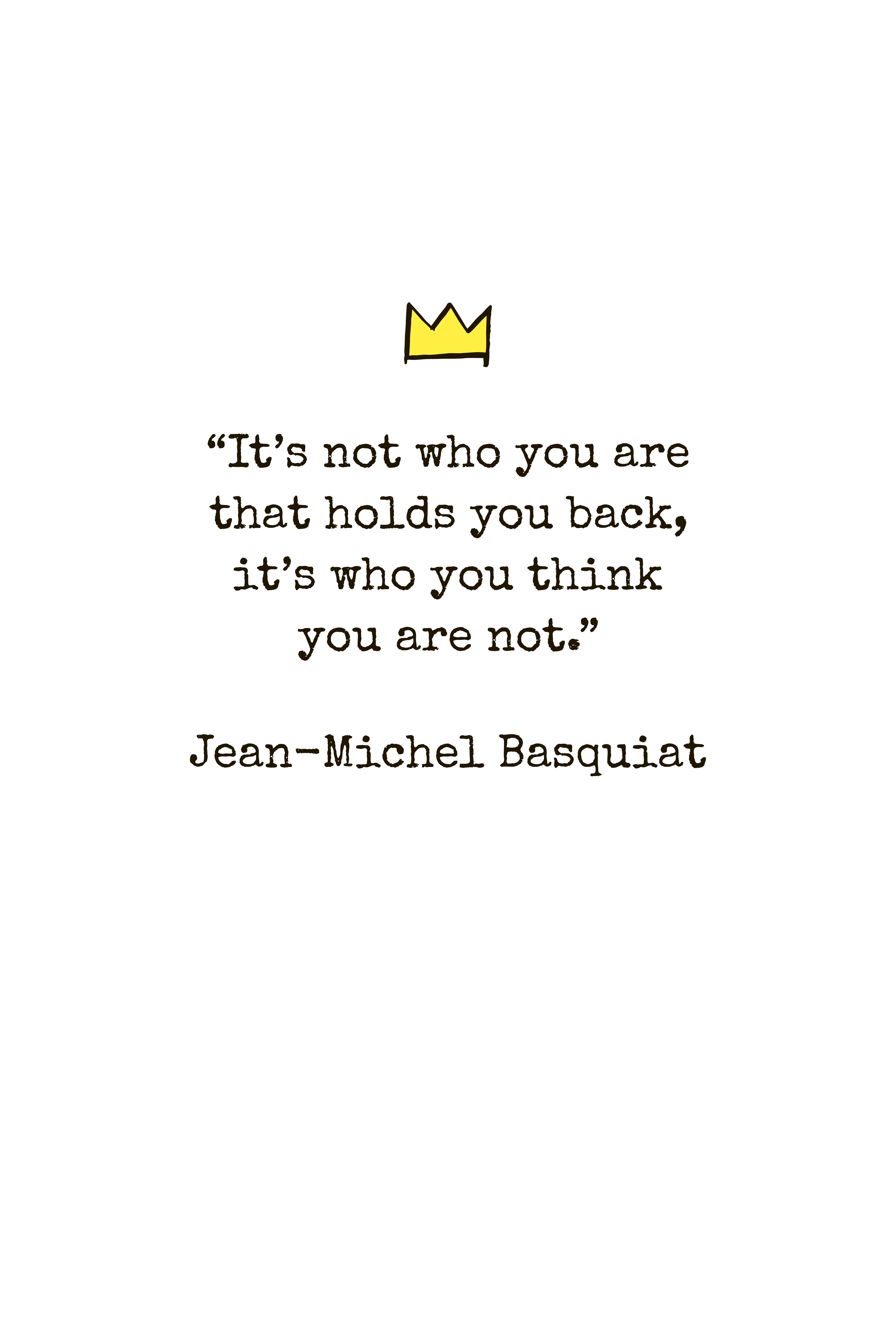 FREE printable wall art JeanMichel Basquiat quote art