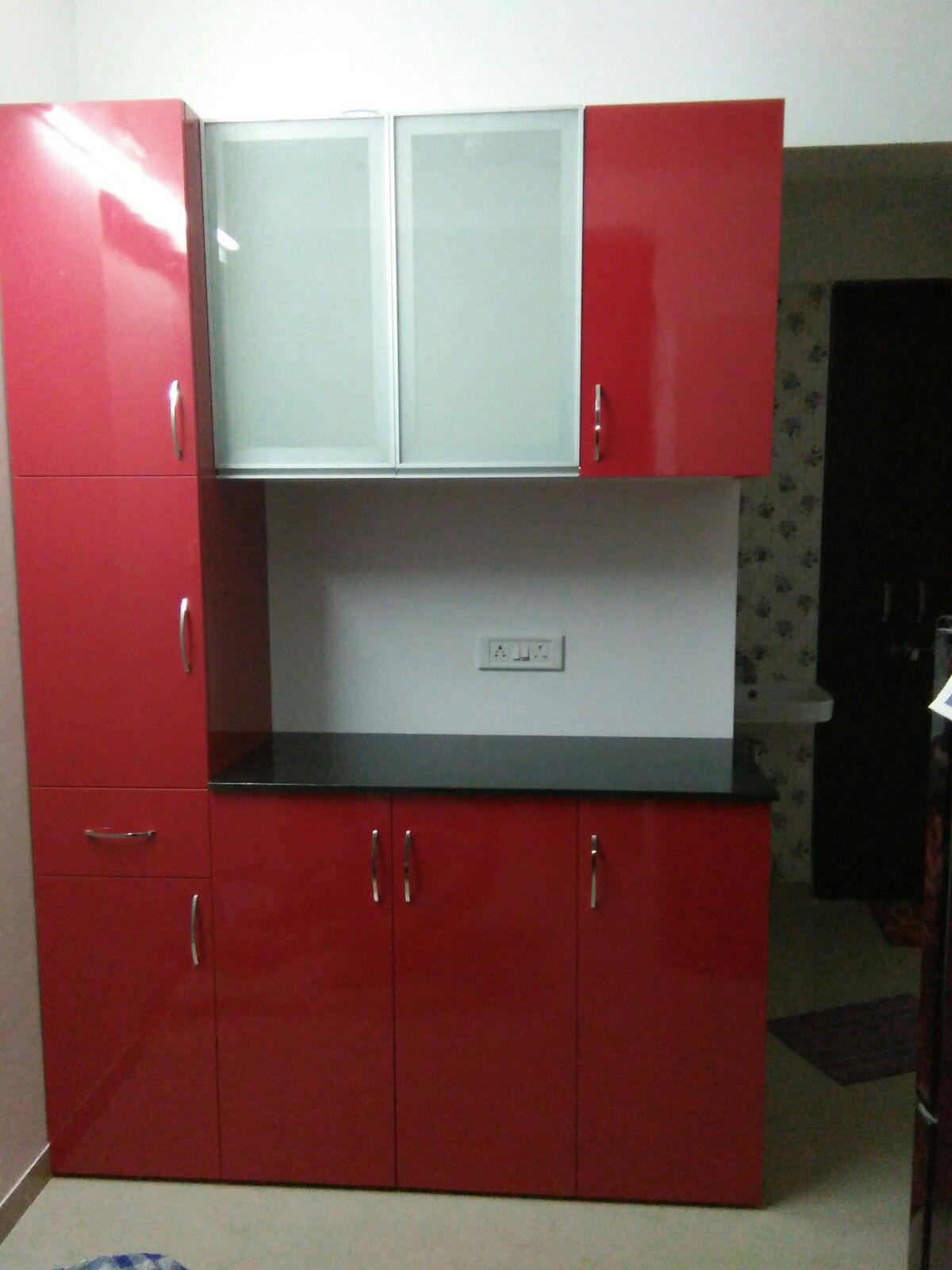 Modular kitchen modular furniture extra base unit tall for Tall kitchen wall units