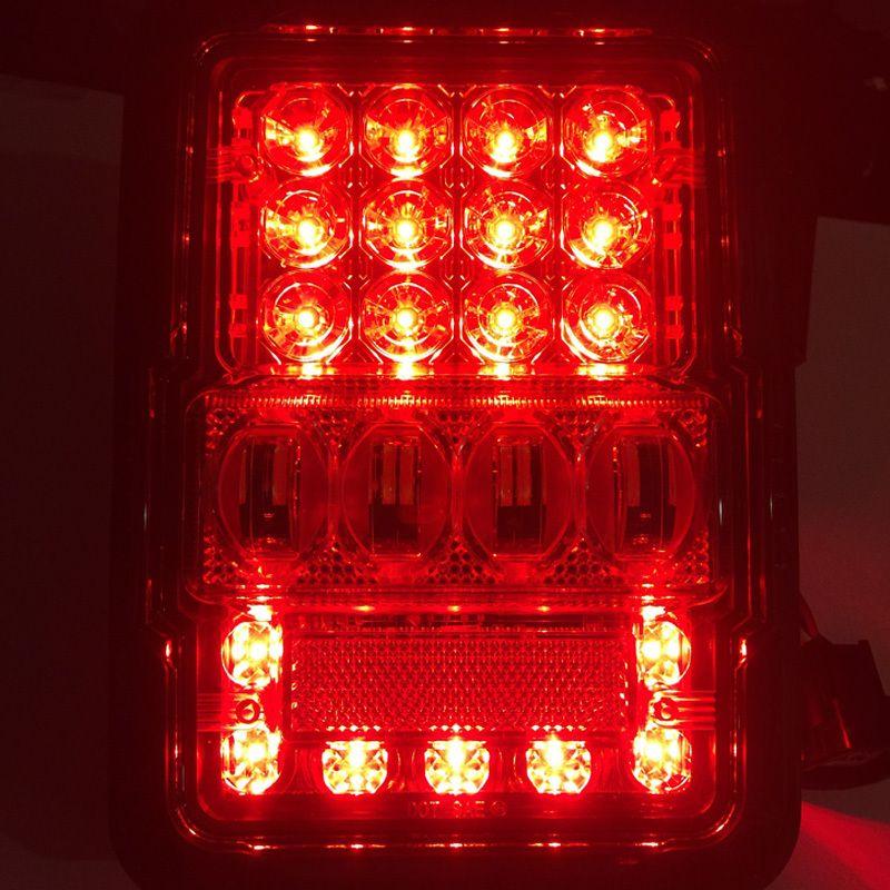 Jeep Wrangler Jk 2007 Dot Emc Canbus Led Tail Light Set W 30w