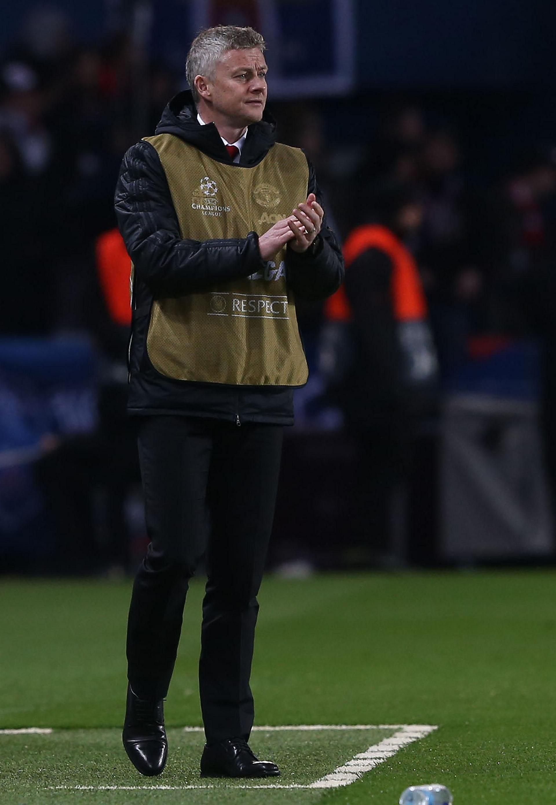 Match pics from PSG v Man United in Champions League