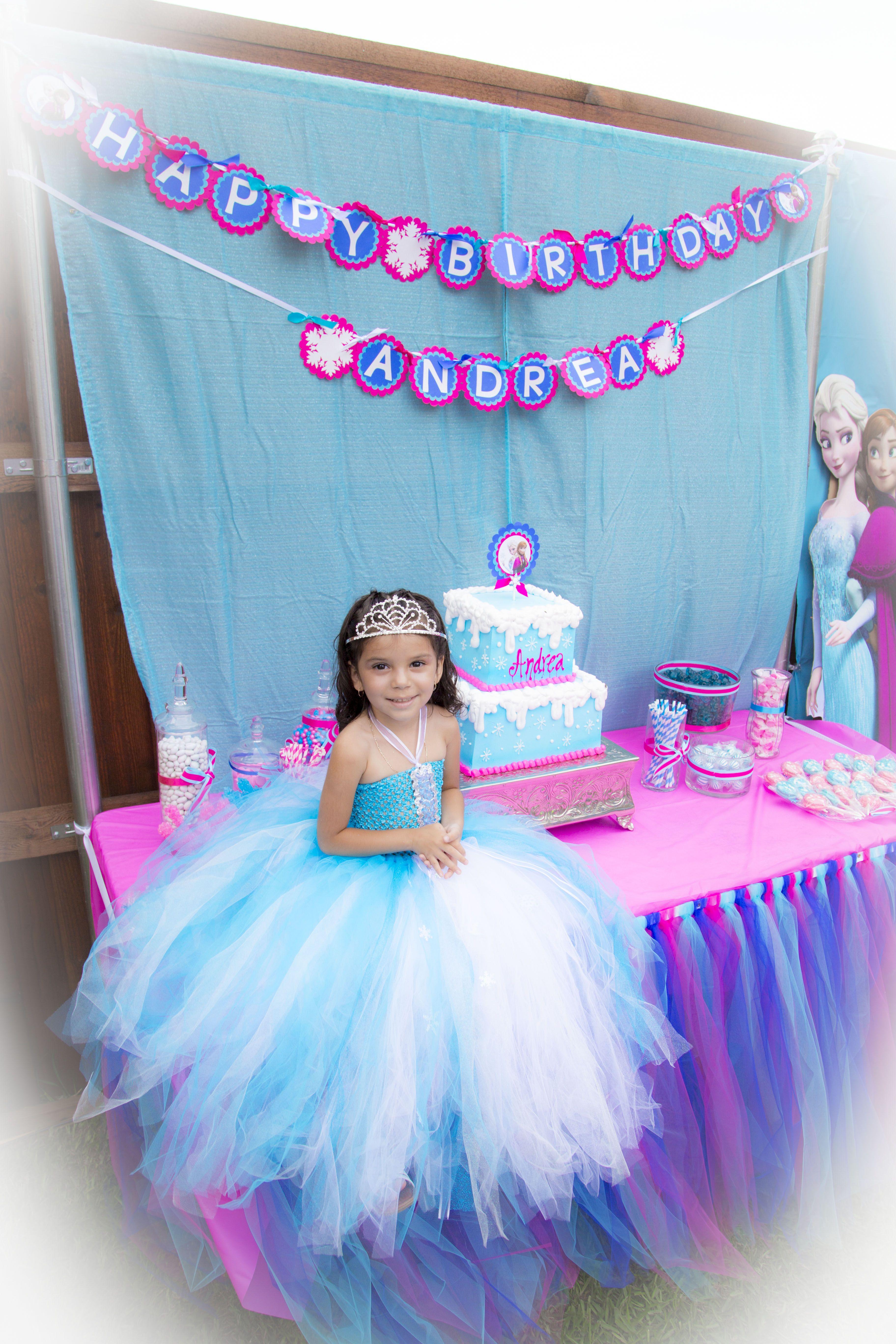 Frozen Candy Table Vestido De Frozen Frozen Cosas Para Comprar