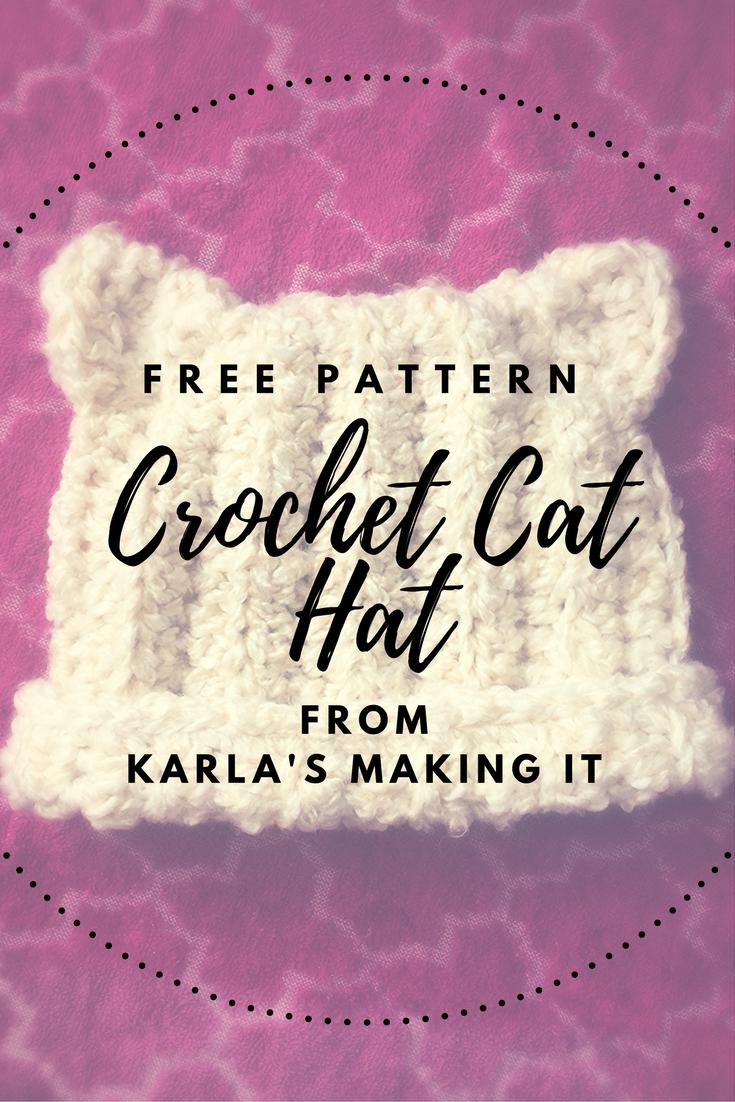 Free Pattern for a Super Cute Crochet Cat Hat from Karla\'s Making It ...