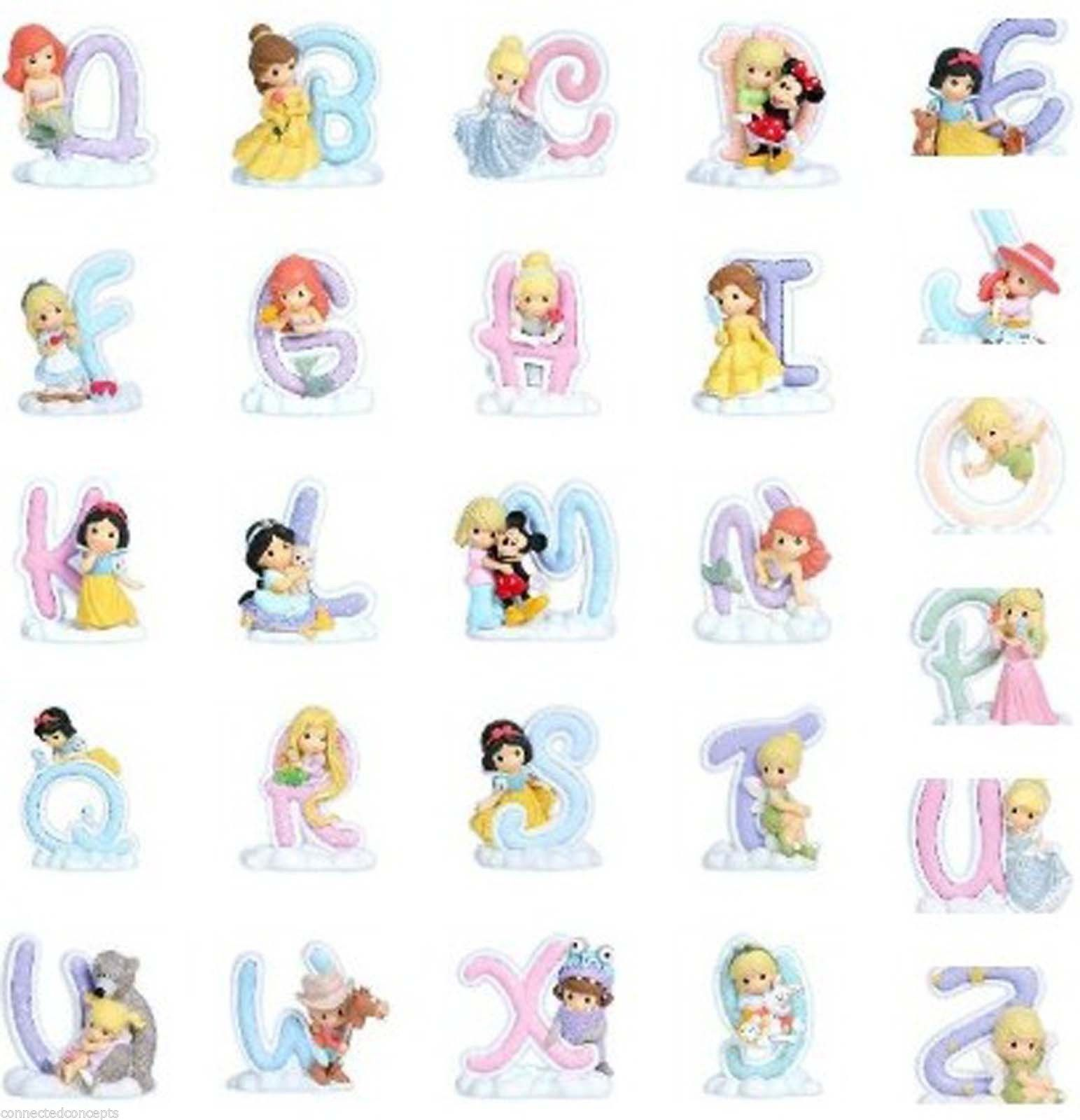 Precious Moments Disney Princess Alphabet Figures Limited