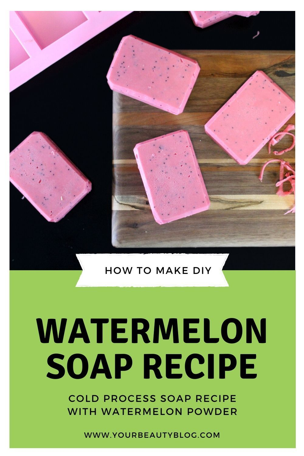 Watermelon Soap Recipe with Real Watermelon Fruit in 2020