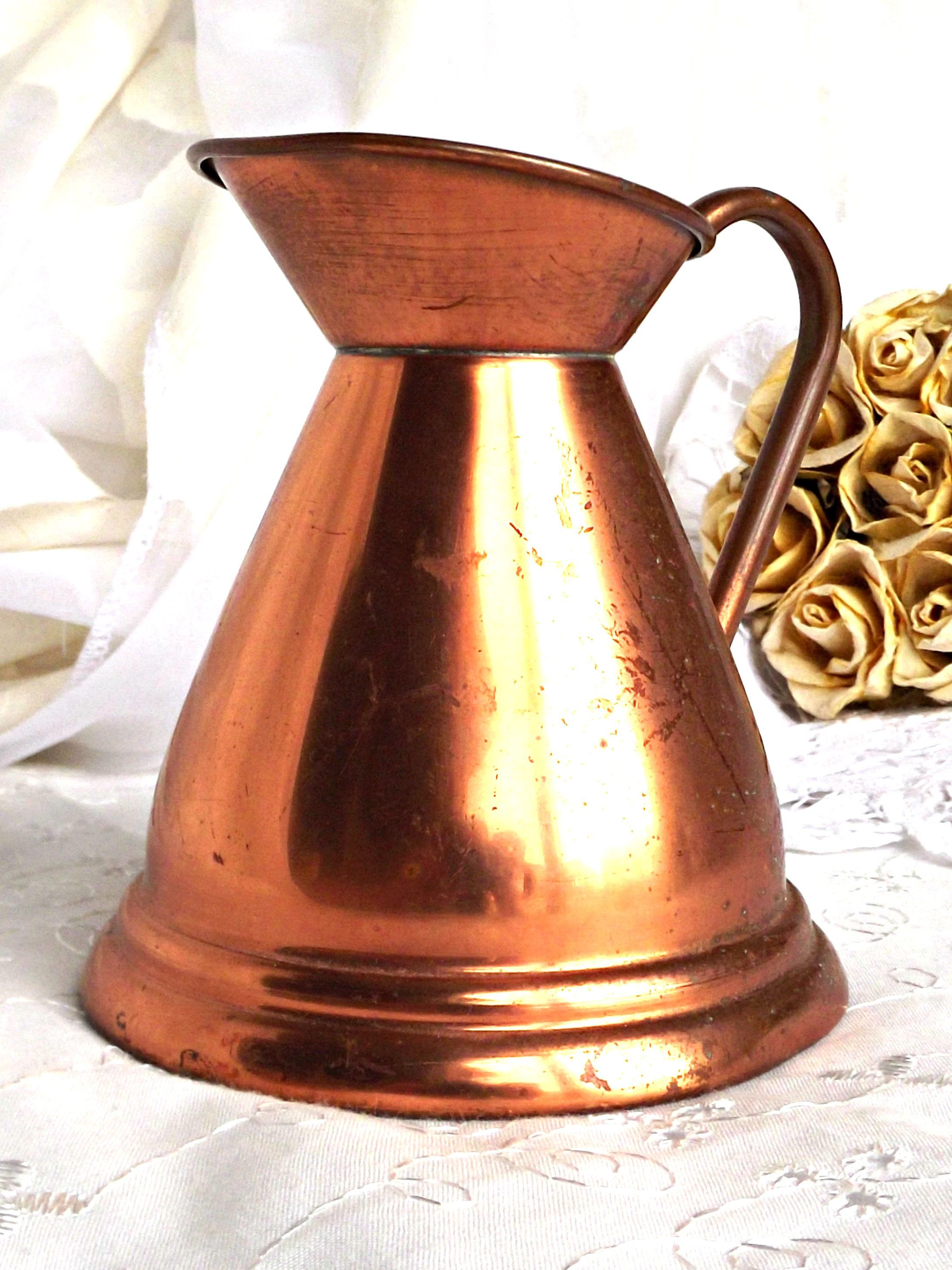 french decor pin collectible circa home antique copper farmhouse kettle