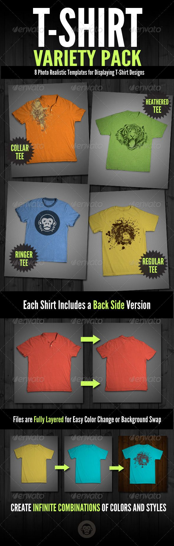 Download T Shirt Mock Ups Variety Pack Clothing Mockup Mockup Design Mockup
