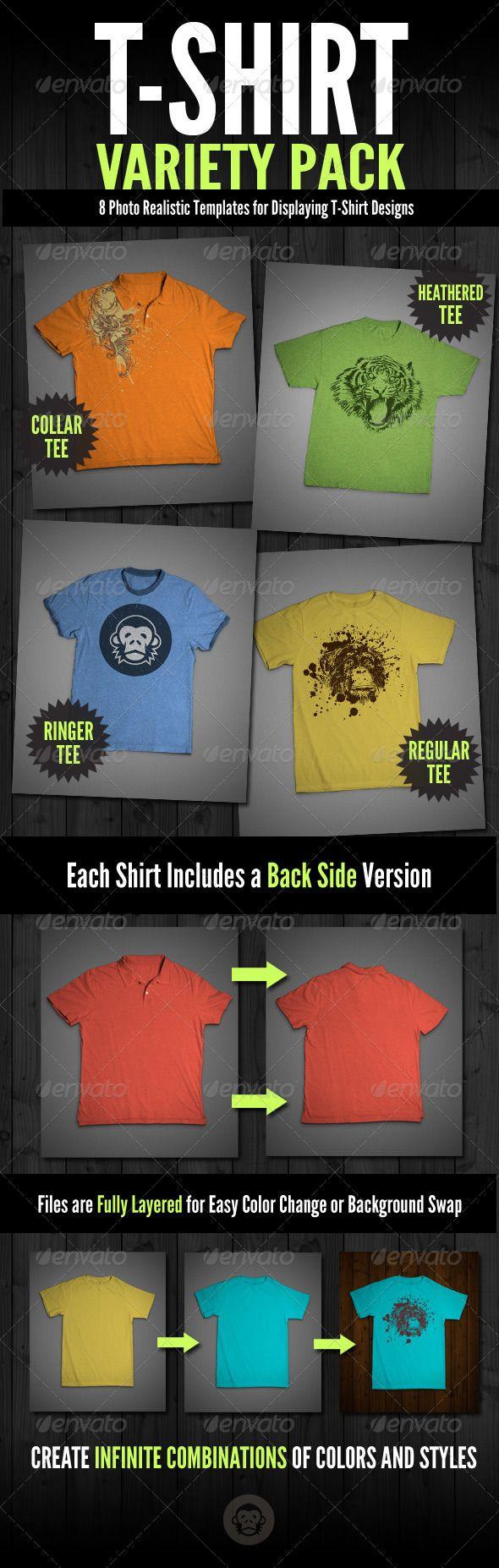 Download T Shirt Mock Ups Variety Pack Clothing Mockup Mockup Design Mockup